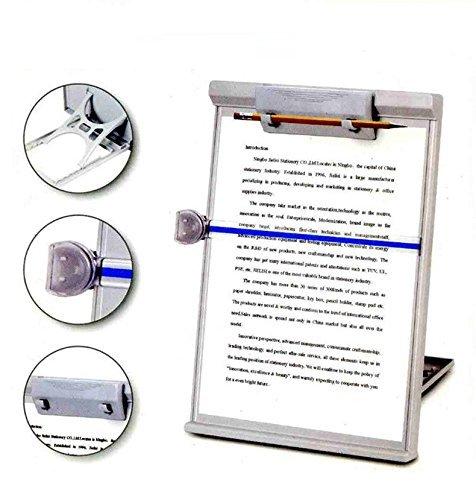 Caballete plegable ajustable Lenhart de tama/ño de papel A4 de escritorio lecturas y copiadores de 35,05/cm x 22,86/cm color gris tipo de soporte de copias de documentos