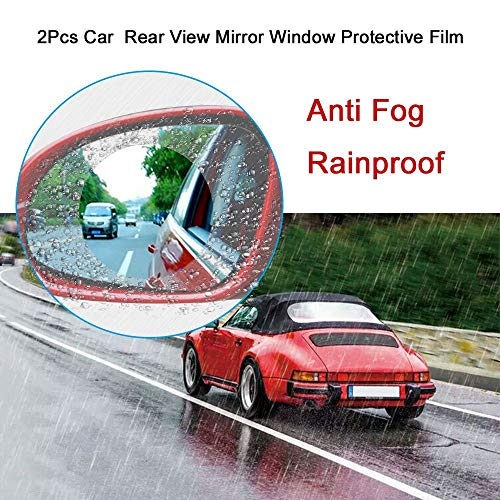 TOOGOO 2pcs Motorcycle Car Side Rear View Mirror Protective Film Anti Fog Rainproof Rear View Mirror Window Clear Waterproof Membrane by TOOGOO (Image #7)