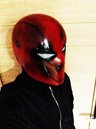 [Custom Batman Arkham Under the Red Hood Helmet Halloween Costume Mask MA190] (Batman Arkham Suit)