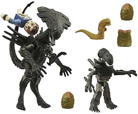 Aliens Queen Alien Minimates 2-pack set Featuring Warrior Alien ...