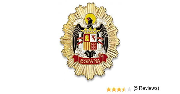 Outletdelocio. Placa metalica Escudo Aguila de España. Especial para cartera de bolsillo