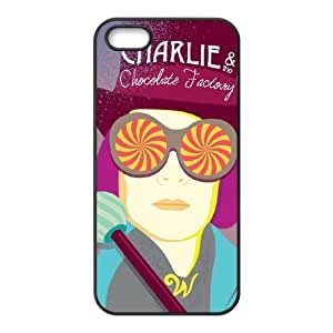 WJHSSB Diy case Charlie and the Chocolate Factory customized Hard Plastic Case For iPhone 5,5S [Pattern-1]