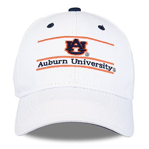 NCAA Auburn Tigers The Game Bar Design Hat Adjustable Hat White (Auburn Game Tigers)