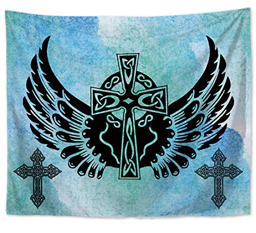 - Celtic Angel Wing Cross Wall Hanging Tapestry Wall Art Room Tapestry