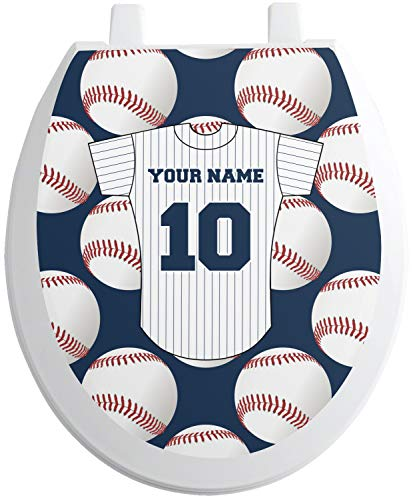 RNK Shops Baseball Jersey Toilet Seat Decal - Round (Personalized)