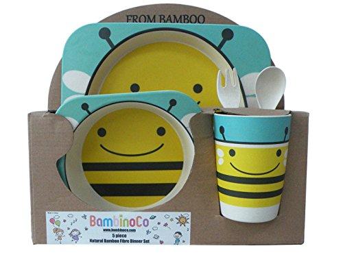 Bambinoco eco friendly natural bamboo fibre dinning sets to make kids mealtimes fun (Fun Fibers)