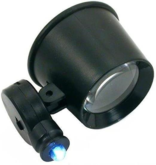10X Loupe Illuminated Magnifier Microscope 60X to100X Jewelers Magnifying Tools