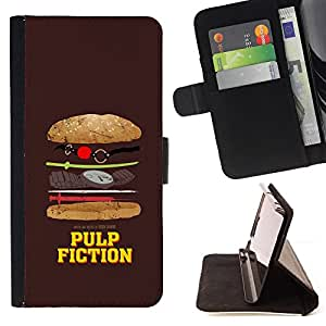 DEVIL CASE - FOR Samsung Galaxy S4 IV I9500 - Movie Parody Funny Symbol Junk Food - Style PU Leather Case Wallet Flip Stand Flap Closure Cover