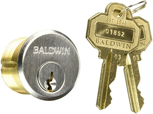 "Baldwin 8322 1-1/8"" Mortise Cylinder C Keyway, Satin Chrome"