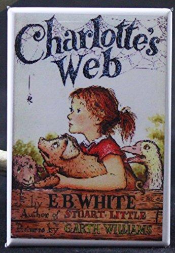 Charlotte's Web Book Cover Refrigerator Magnet. Unique Gift Idea! ()