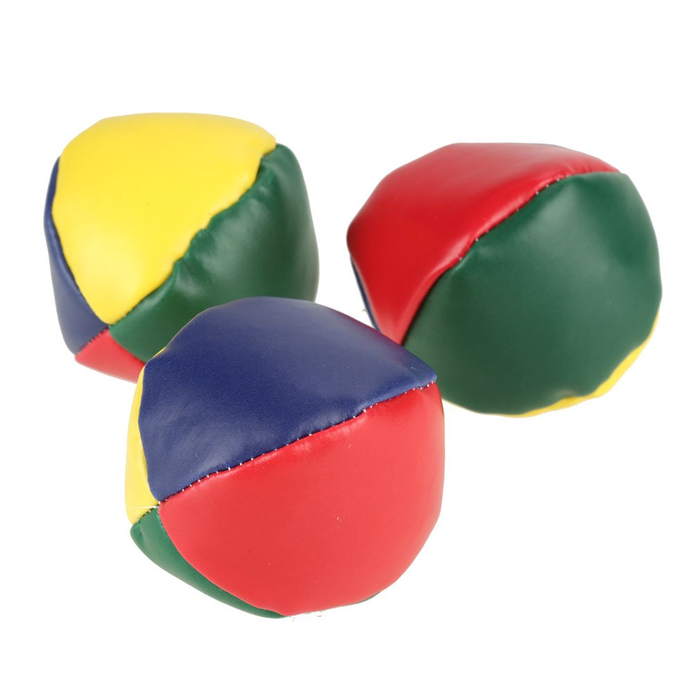 set Bulk Kit Kids Toy in pelle Baby Learning Ball Set Jogging Balls Principianti Prop Ball per Fun Circus Juggling Balls 3Pcs