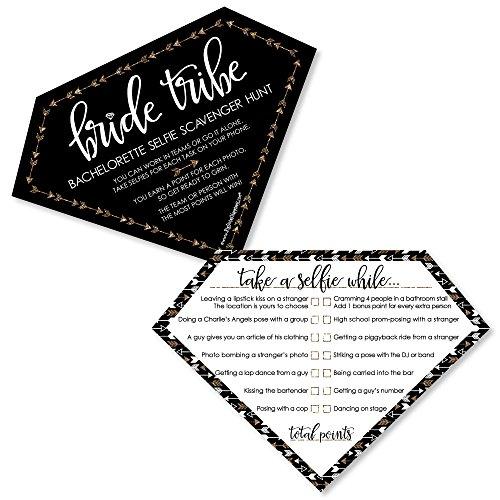 Bride Tribe - Selfie Scavenger Hunt Bridal Shower & Bachelorette Party Game - Set of 12 ()
