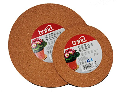 2 Pack Bond Cork Mats 6 inch and 8 inch