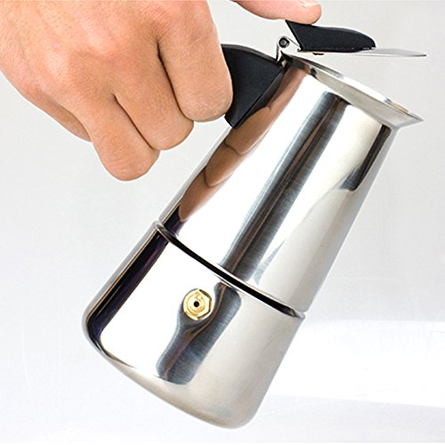 XuBa Household Stainless Steel Coffeepot Exquisite Mocha Kettle with Filter Practical Coffee Heater - Filter Indian Coffee South