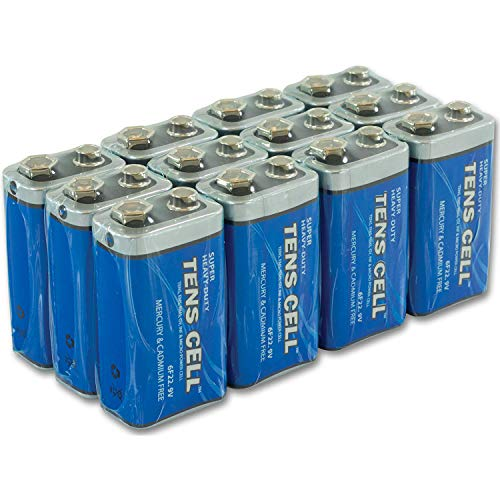 Long Lasting 9 Volt Battery For Smoke Alarms, TENS Units, and Other Household Devices, 12 Pack - Heavy Duty Batteries 9 Volt