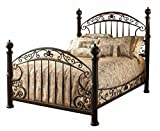 Hillsdale Furniture 1335BQR Chesapeake Bed Set with Rails, Queen, Rustic Old Brown