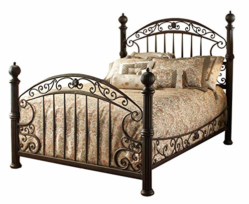 (Hillsdale Furniture 1335BKR Chesapeake Bed Set with with Rails, King, Rustic Old Brown)