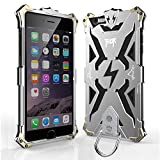 Iphone 6 6s plus Case, bpowe Hollow Design Full Signal Thor Case, Aviation Aluminum Anti-scratch Strong Protection Metal Hard Rugged Case for Iphone 6/6s plus 5.5inch (silver/black)