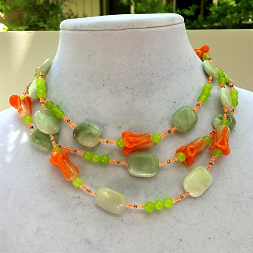 Extra long flower garland necklace, 52