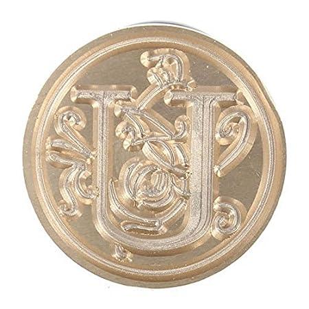 Fablcrew Sigillo Timbro Ceralacca con 26 Lettere Maiuscole Inglesi 9cm F 1 Pezzi Size 2.5
