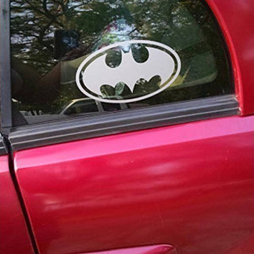 Batman emblem SMALL Vinyl Decal | DC Comics Justice League Batman Superman Wonder Woman Aquaman Flash Cyborg Green Lantern Martian Manhunter | Cars Trucks Vans Laptops Cups Mugs | Made in the USA ()