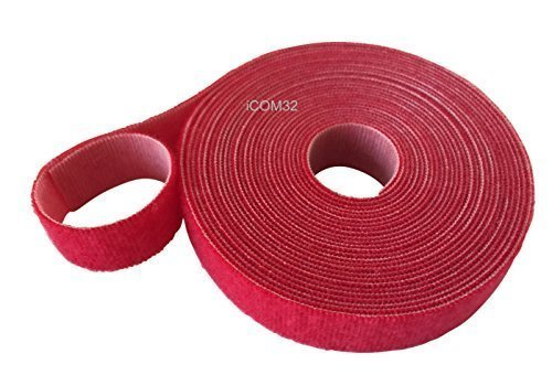VELCRO® Brand Hook and loop ONE-WRAP® back to back Strapping in Red 2CM Wide X 25 Metres Long VELCRO®