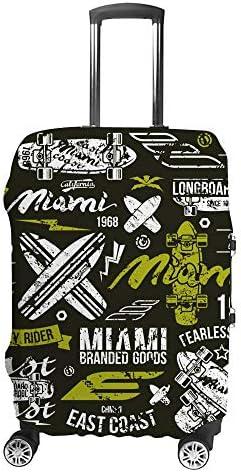 スーツケースカバー サーフィン レトロ 伸縮素材 キャリーバッグ お荷物カバ 保護 傷や汚れから守る ジッパー 水洗える 旅行 出張 S/M/L/XLサイズ