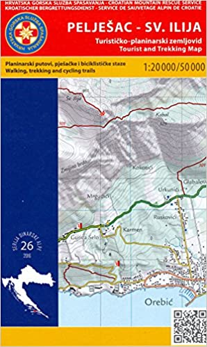 Peljesac Peninsula Croatia 1 20 000 1 50 000 Hiking Map Hgss