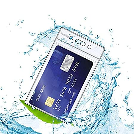 M Fushing 50PCS Klar Wasserdicht Plastikabzeichenhalter Namensschild Abzeichen ID-Kartenhalter