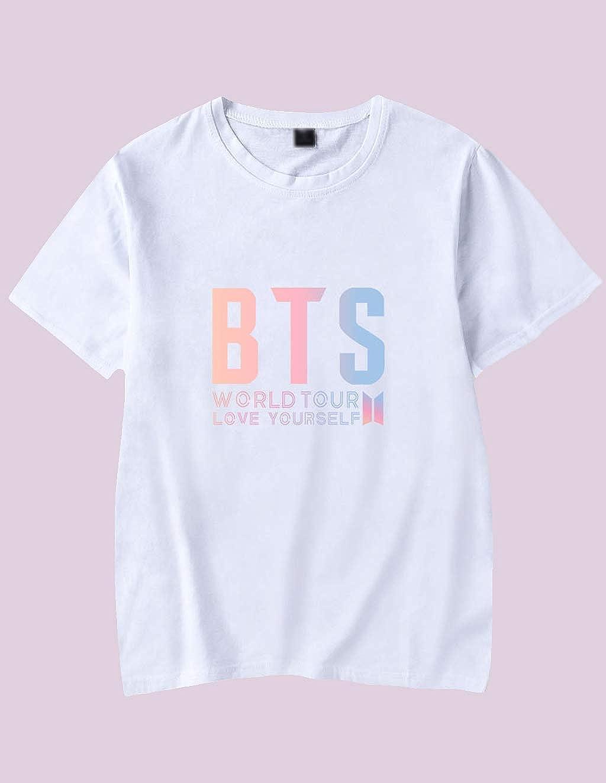 Kpop BTS Merchandise Bangtan Unisex Fashion Shirts Love Yourself Tshirt Suga Jung Kook Jimin Tee