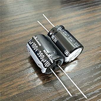 Mustwell 5pcs 390uf 100v Nichicon He Series 18x25mm Super