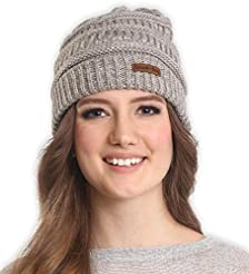 Brook + Bay Cable Knit Beanie for Women ...