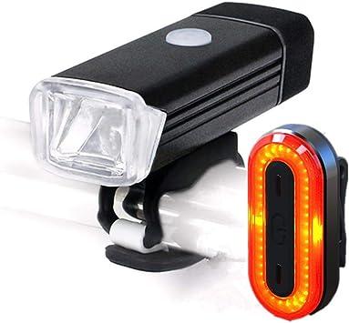 Katurn Carga USB Bicicleta Bicicleta Luces para Bicicleta de ...