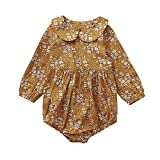 Opeer 3-24 Months Age Infant Toddler Baby Girl Long Sleeve Print Floral Color Romper Jumpsuit Clothes