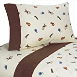 4 pc Queen Sheet Set for Jungle Time Bedding Collection by Sweet Jojo Designs