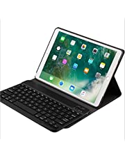 iPad Pro 10.5 2 in 1 Detachable Wireless Bluetooth Keyboard plus Slim Smart Folio Stand PU Leather Case Cover
