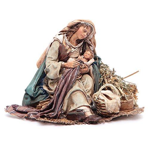Holy Mary holding Baby Jesus 18cm Angela Tripi by Holyart