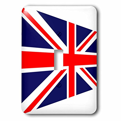 Florene - Flags Of World Unique - Image of United Kingdom Flag In Contemporary Style - Light Switch Covers - single toggle switch - Contemporary Single Style Images