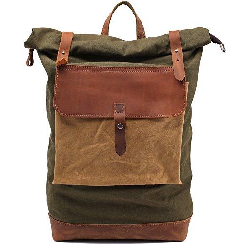 Tela dell'annata zaino zaino, computer portatile Ipad Zaini, borsa di alpinismo escursionismo sacco (bene-organizzato, grande capacità e multi-protezione)