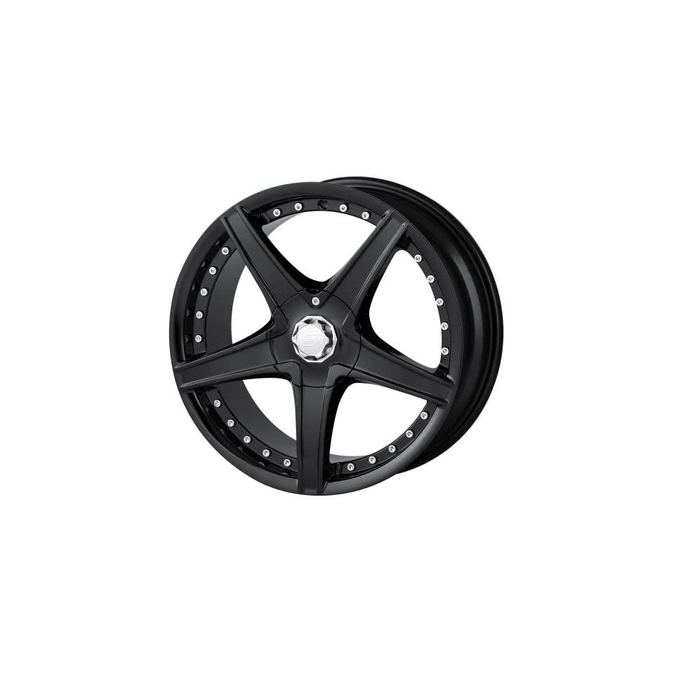 17x7 Sacchi S45 (245) (Black) Wheels/Rims 4x100/114.3 (245 7701B) Automotive