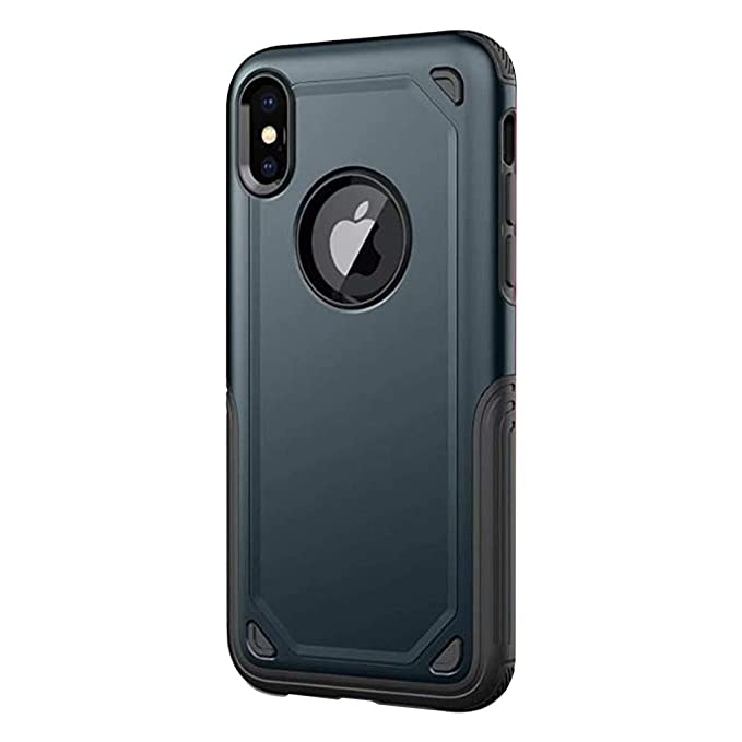 Funda iPhone X/XS/XR/XS MAX Carcasa, 2 in1 TPU Silicona + PC ...