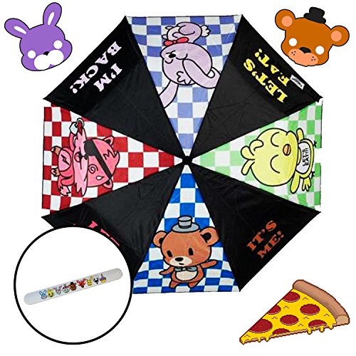 FNAF Five Nights at Freddys Chibis Rain Umbrella with Bracelet - Freddy Fazbear Pizzaria (Foxy Purse)