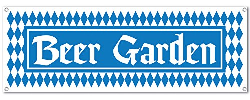 Beer Garden Sign Banner Party Accessory (1 count) (1/Pkg) -