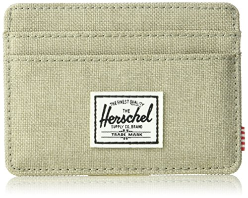 Herschel Supply Co. Men's Charlie Rfid, light khaki crosshatch, One (Charlie Light)