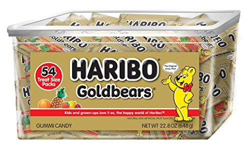Haribo Goldbears Original Flavor, 22.8 oz. Tub containing 54 - .4 oz. -