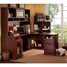 Cabot Collection L-Desk, Hutch, Bookcase