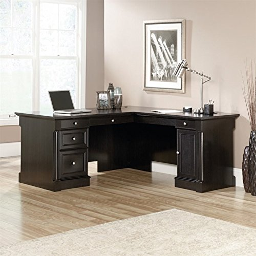 Sauder Avenue Eight L Shaped Desk in Wind Oak - Executive L-shaped Computer Desk