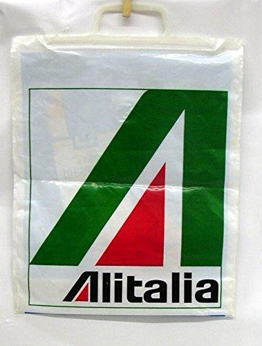 Alitalia Airlines airline duty-free plastic bag ca 1970s
