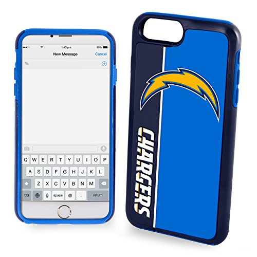 Forever Collectibles iPhone 8/7 Dual Hybrid Bold Case - NFL San Deigo Chargers