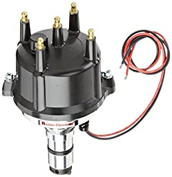 Pertronix D7180810 Flame-Thrower Plug and Play Billet Black Cap Non Vacuum Electronic Distributor with Ignitor III for VW Type 1 Engine